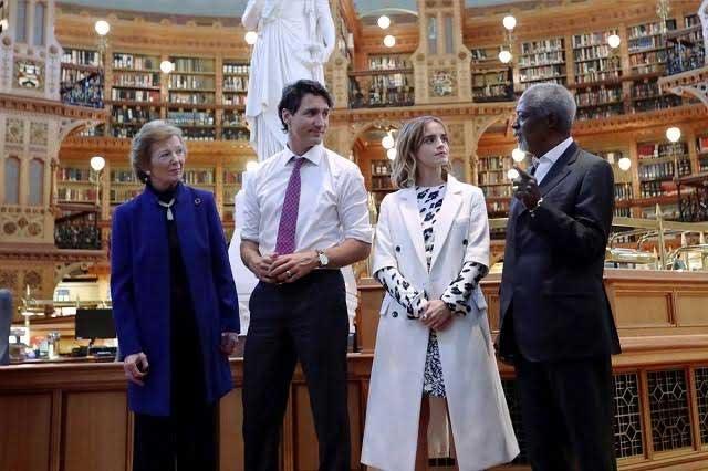 Emma Watson debate sobre igualdad de género con Justin Trudeau