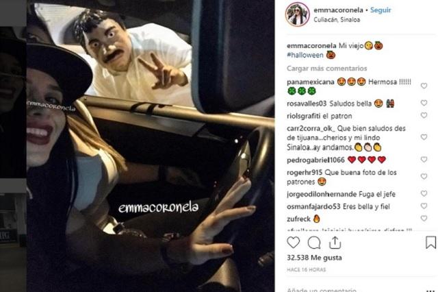 Publican en Instagram una selfie de Emma Coronel con El Chapo