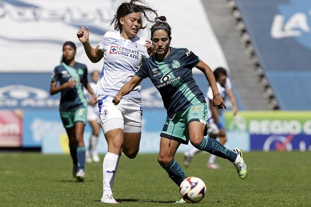 Puebla Femenil consigue su primer punto del torneo con empate ante Cruz Azul