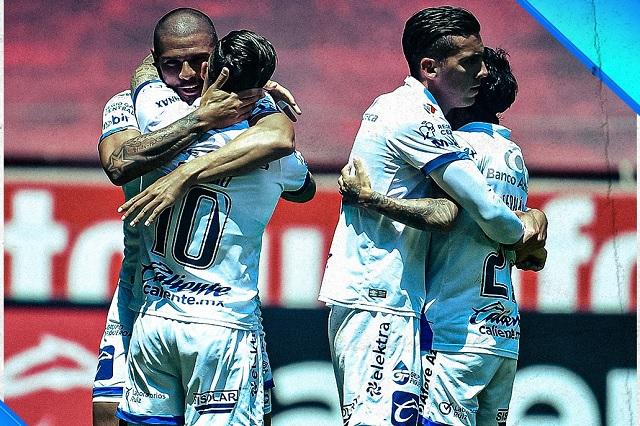 ¡Partidazo en el infierno! Puebla y Toluca empatan a 4 goles