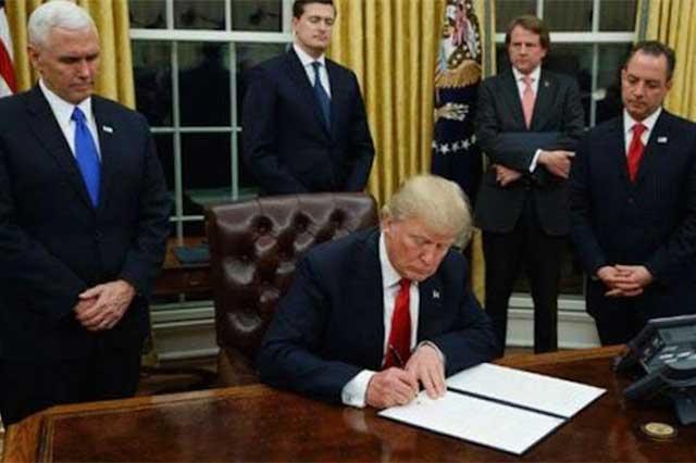 Trump promete a sus empresarios sorpresas agradables con el TLC