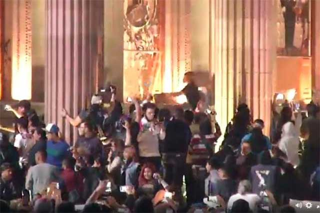Protesta contra el gasolinazo en Monterrey deriva en enfrentamiento