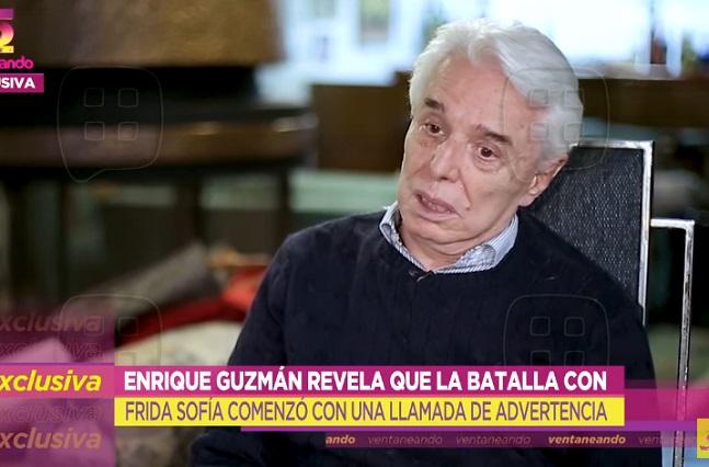 Enrique Guzmán asegura que Frida Sofía golpeó a Alejandra Guzmán