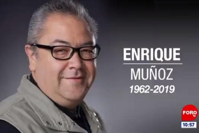 Él era Enrique Muñoz, reportero de Televisa que murió de un infarto
