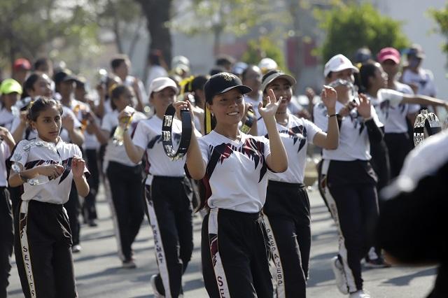 Ensayan desfile del 5 de Mayo y recuperan recorrido tradicional