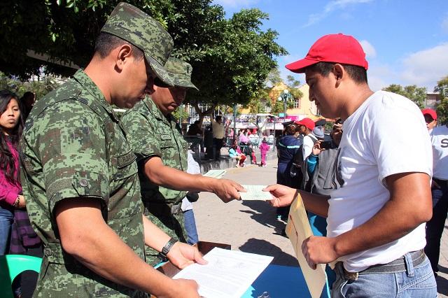 Reprograman trámites para Servicio Militar Clase 2002 en Puebla