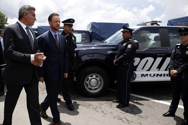 Ponen en circulación 46 nuevas patrullas en la ciudad de Puebla