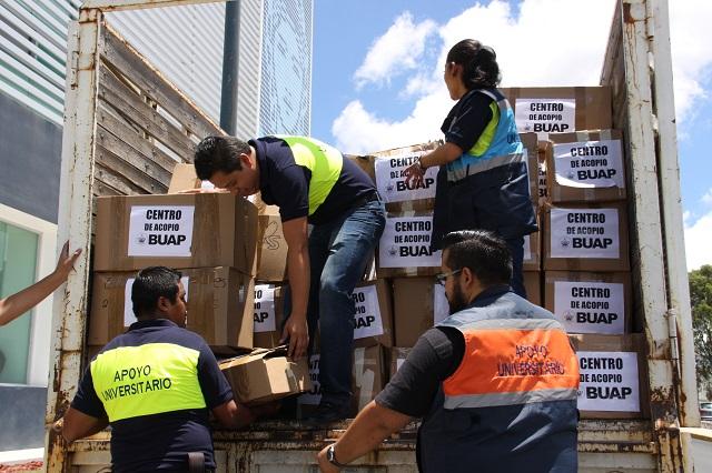Envía la BUAP 4 toneladas de víveres a damnificados por la tormenta Earl