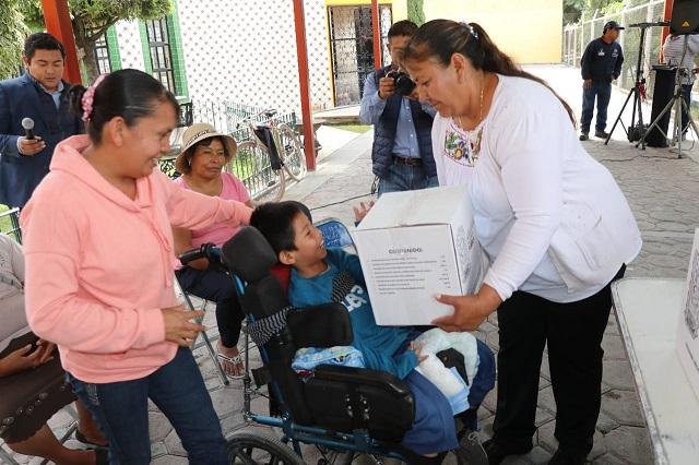 Entrega DIF Atlixco apoyos alimentarios a grupos vulnerables