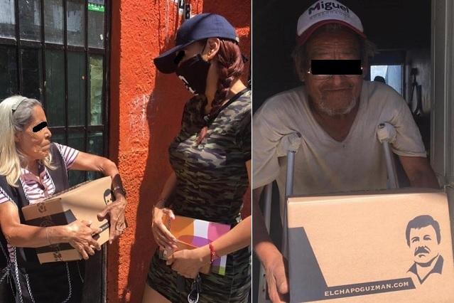 Entregan despensas en Guadalajara a nombre del 'Chapo' Guzmán