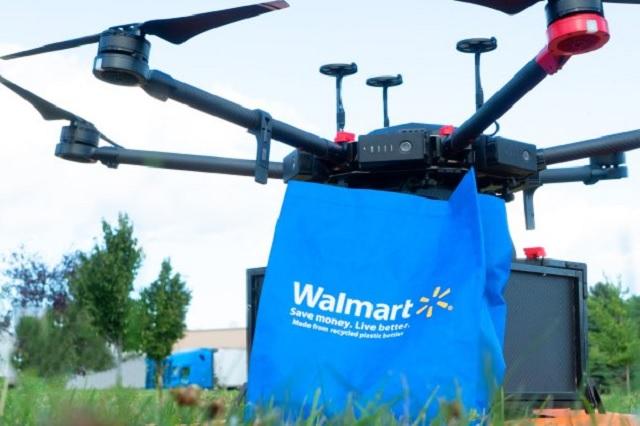 Walmart mira a futuro y prepara entregas vía drones
