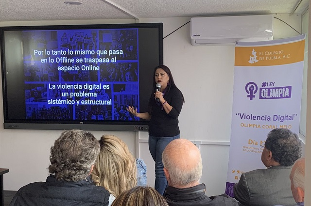 Las redes reflejan realidad del acoso a mujeres: Olimpia Coral