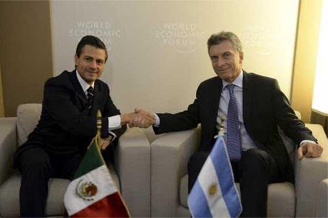 Peña plantea a Macri que México y Argentina concreten vínculos comerciales