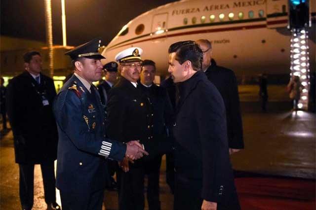 Llega Peña Nieto a Chile para Cumbre de la Alianza del Pacífico
