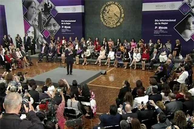 EPN pide combatir el machismo y la violencia de género