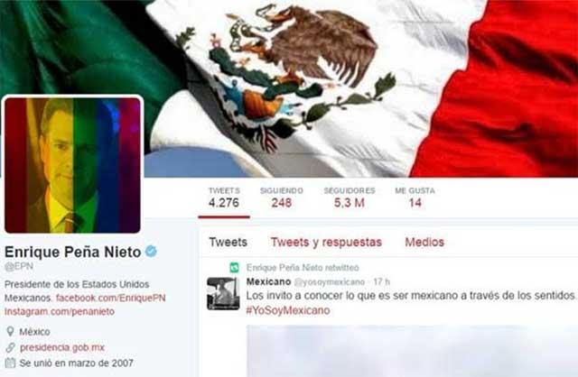 Para combatir la homofobia, EPN coloca arcoíris sobre su foto en Twitter