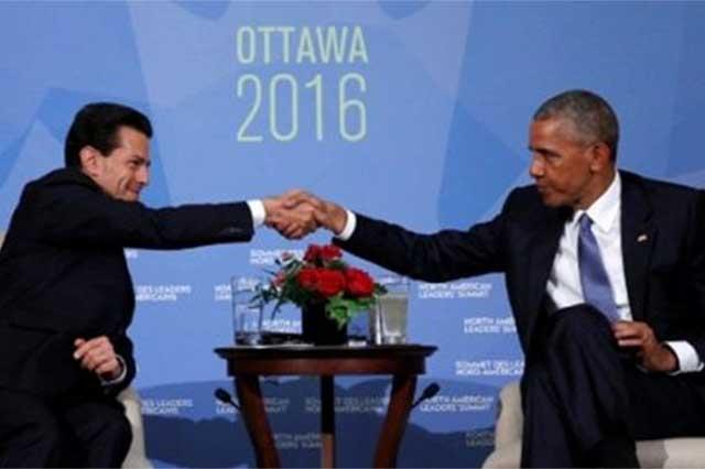 Peña Nieto y Obama conversan sobre narcotráfico y comercio