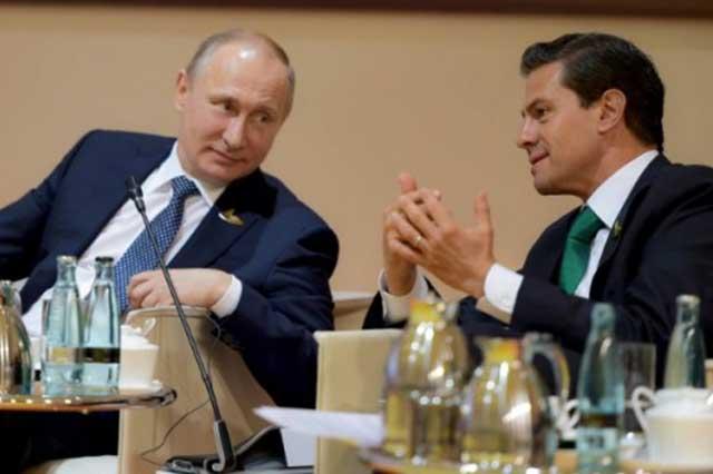 EPN propone a Putin que Rusia invierta en el sector energético mexicano