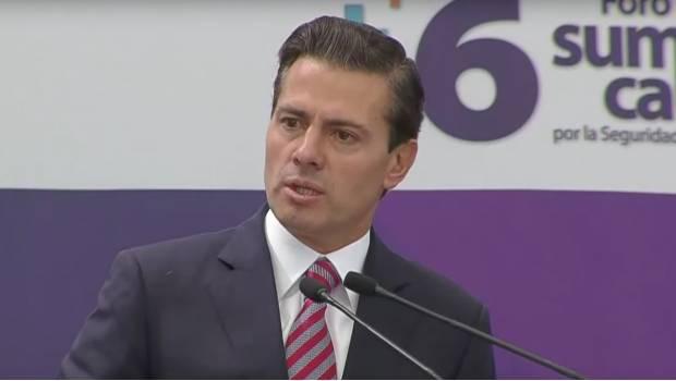 Mexicanos hacen bullying a instituciones nacionales: Peña Nieto