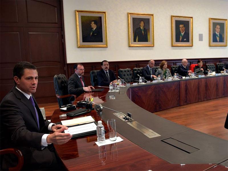 EPN ordena a su gabinete que respete el proceso electoral