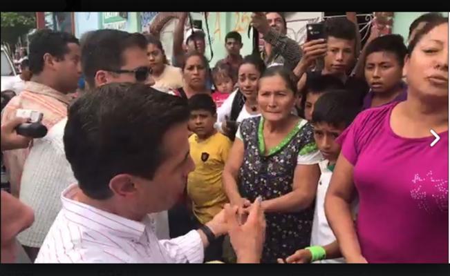 EPN pide a pobladores de Chiapas que no permitan que lucren con la tragedia