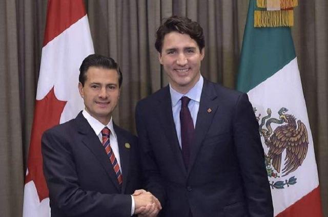 EPN y Justin Trudeau conversan sobre el Tratado de Libre Comercio