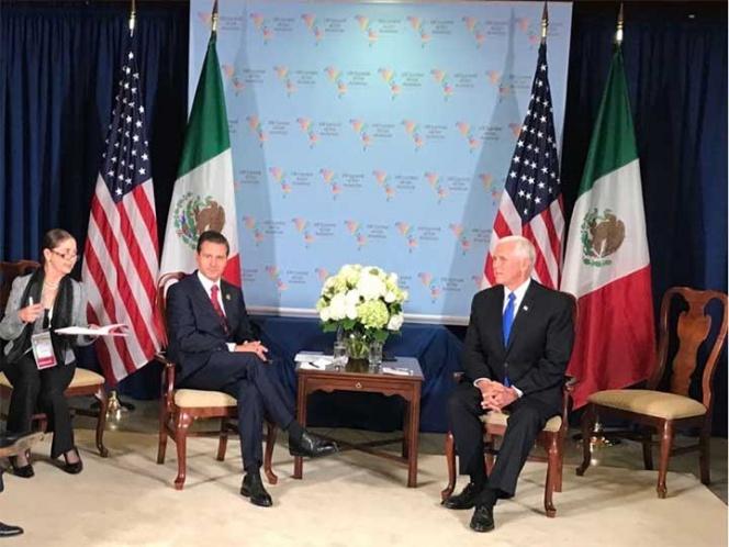 EPN y el vicepresidente de EU conversan sobre el TLC y asuntos bilaterales