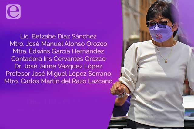 Define Lilia Cedillo a su equipo de transición en la BUAP