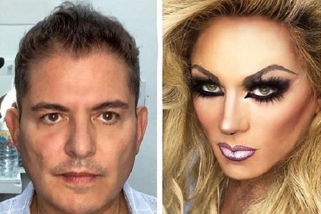 VIDEO: Así transforman a Ernesto Laguardia en travesti