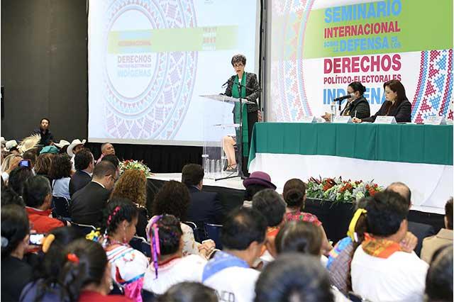Proteger derechos de indígenas y erradicar exclusión política: TEPJF