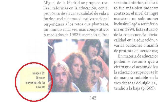 El libro que dice que Nirvana son mexicanos no es de la SEP