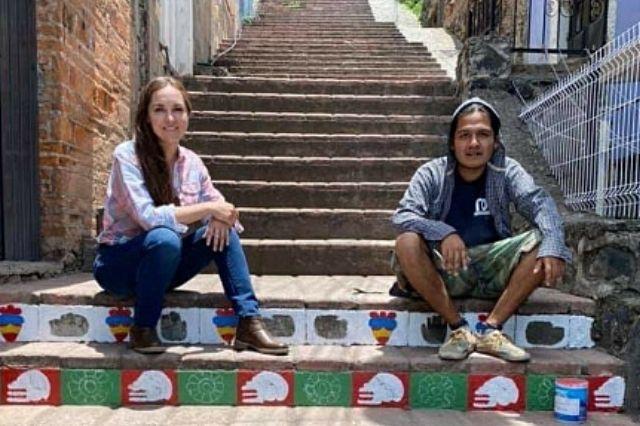 Ilustrarán las escalinatas de la plazuela de la danza en Atlixco