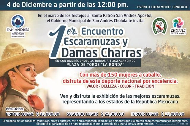 Realizarán Encuentro Escaramuzas y Damas Charras en San Andrés