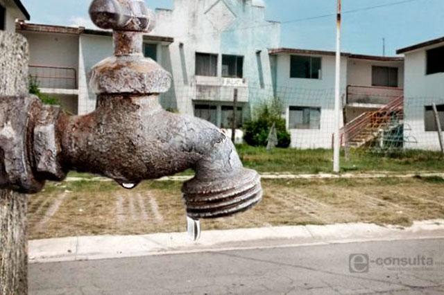 Por escasez de agua en la ciudad de Puebla, potabilizan agua sulfurosa