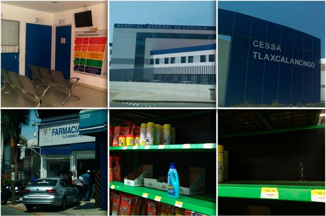 Compras de pánico y escasez de productos por Covid-19 en Puebla