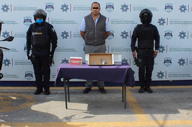 Detienen a hombre armado en Ampliación Guadalupe Hidalgo