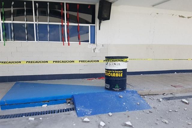 Reubican escuela privada de Cholula por daños del sismo