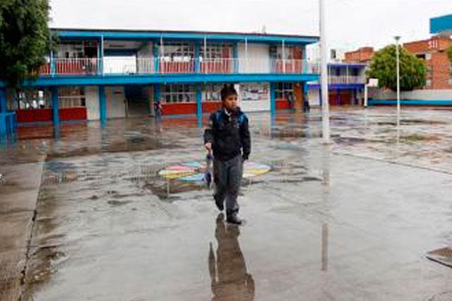 Resultaron con daños por lluvias 10 escuelas serranas: SEP