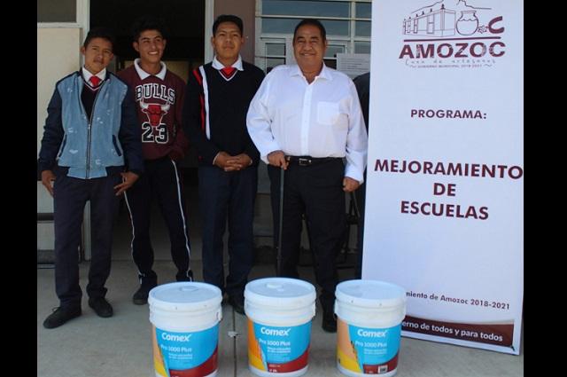 Alcalde de Amozoc pone en marcha programa de Mejoramiento de Escuelas