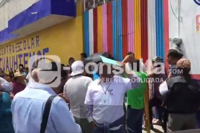 Destrozos en 9 escuelas dejó la elección en Puebla: INE