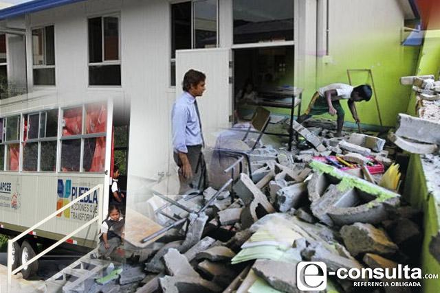 Estudian hasta en iglesias a causa del sismo del 19s en Puebla