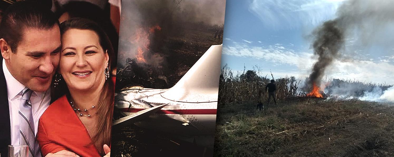 Martha Erika y Rafael Moreno Valle mueren al caer aeronave