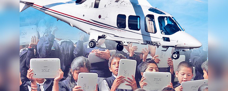 También vendieron tabletas en Puebla dueños de helicóptero caído