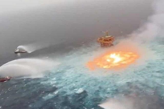 Especies marinas, principales víctimas del fuego en mar de Campeche