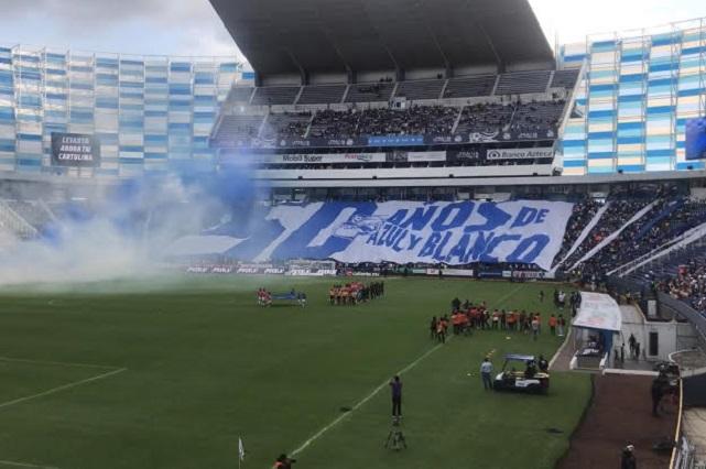 Amargo festejo del Club Puebla en el Cuauhtémoc