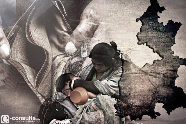 Rebasan los pobres de Puebla a toda la población de Chihuahua