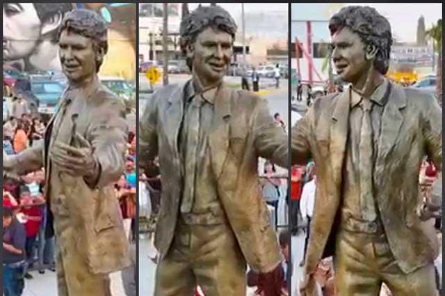 Estatua de Juan Gabriel genera críticas y burlas en Twitter