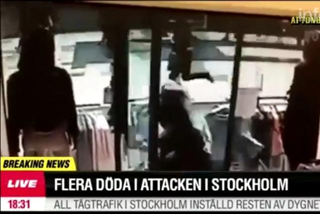 Video exhibe pánico por camión que arrolla multitud en Estocolmo