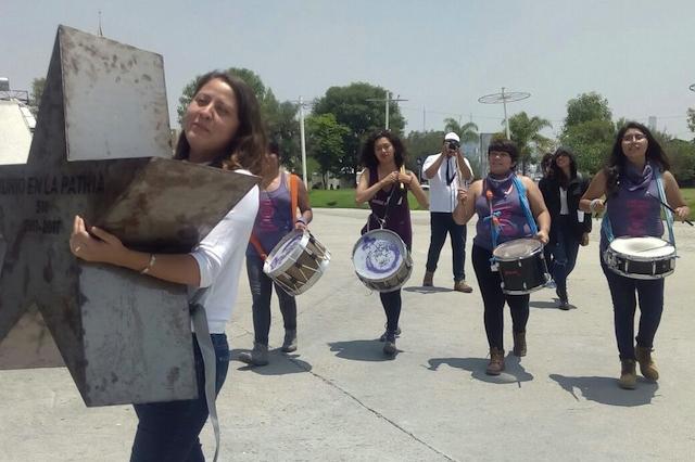 Desde la Estrella de Puebla exigen actuar ante feminicidios