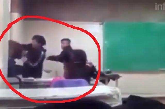 VIDEO: Estudiante insulta y golpea a su maestra en el salón de clases